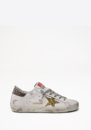 Superstar Sneaker White/Gold Yellow/Beige Brown/Leo