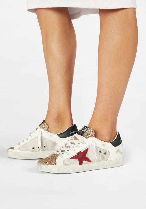Superstar Sneaker Gold/White/Red/Black