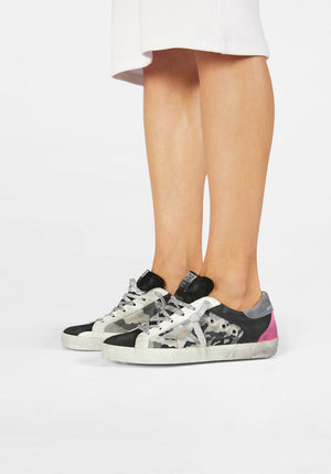 Superstar Sneakers Black/Camouflage/White/Silver/Fuchsia