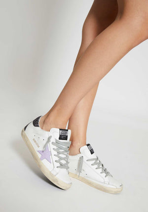 Superstar Sneakers White Coco Glitter/Lavender Star