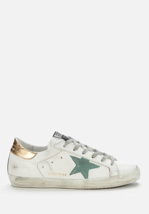 Superstar Sneakers White/Green/Gold