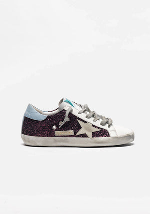 Superstar Sneakers Wine Glitter/Cloud Ice Star
