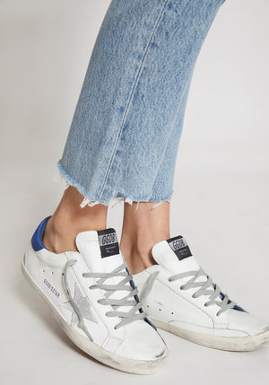 Superstar Sneakers White Leather/Blue Lizard