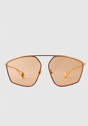 Metal Aviator Sunglasses Gold/Orange