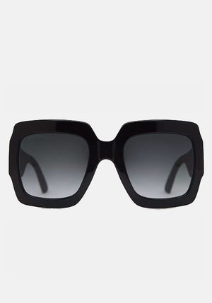 Oversized Square Acetate Sunglasses Black