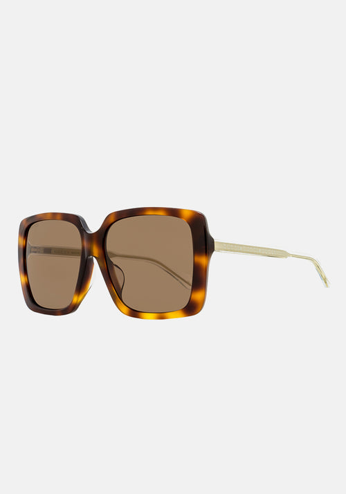 Oversized Square Sunglasses Havana/Brown