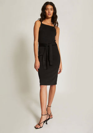 Tie Waist Dress Black