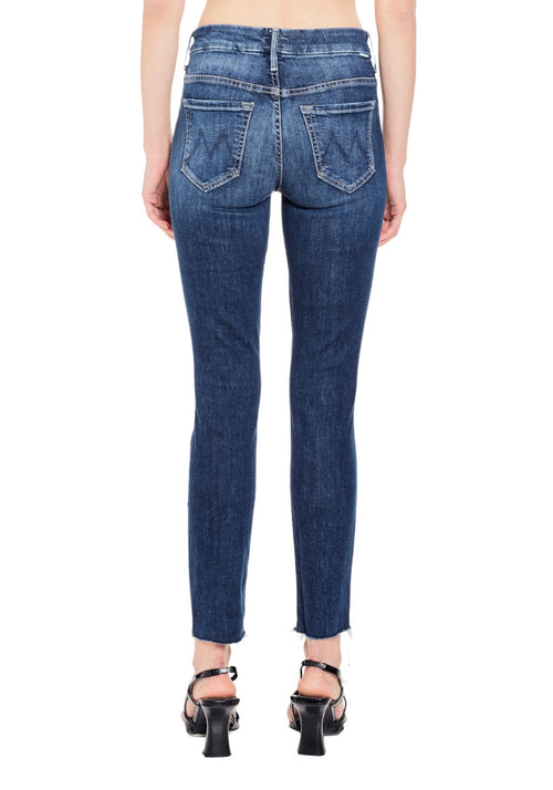 High Waisted Looker Ankle Fray Jean