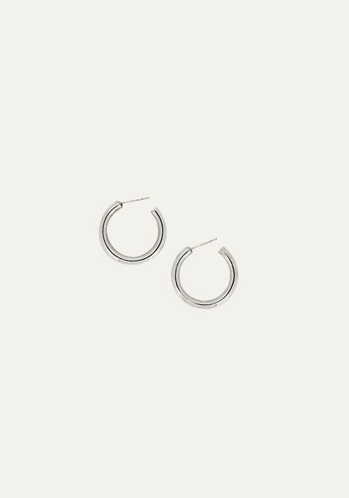Mini Tube Hoops Silver