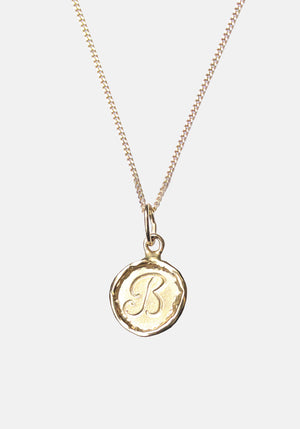 Your Initial B Necklace 9ct Yellow Gold