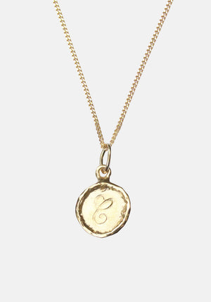 Your Initial C Necklace 9ct Yellow Gold