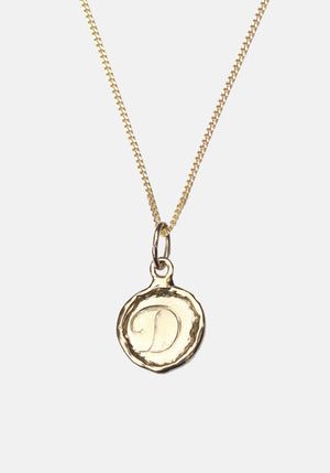 Your Initial D Necklace 9ct Yellow Gold