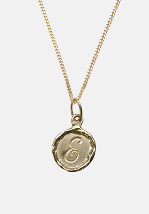 Your Initial E Necklace 9ct Yellow Gold