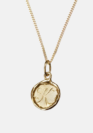 Your Initial K Necklace 9ct Yellow Gold