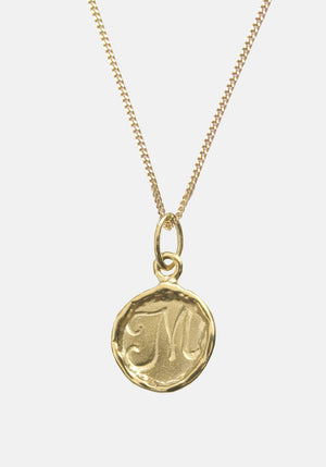Your Initial M Necklace 9ct Yellow Gold