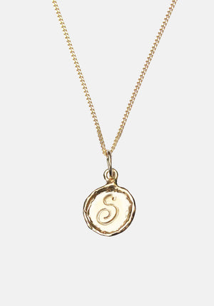 Your Initial S Necklace 9ct Yellow Gold