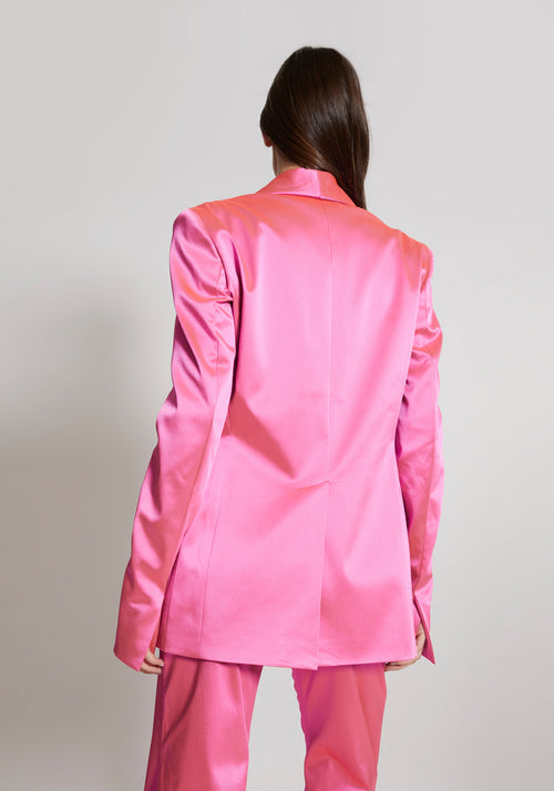 Satin Tailored Jacket Pink
