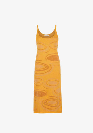 Hockney Dress Orange