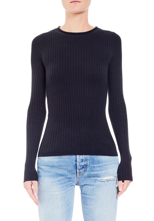 Crewneck Rib Sweater