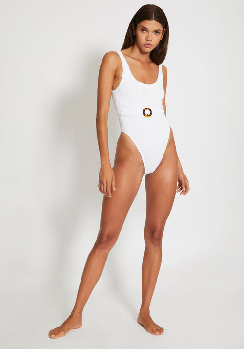 Solitaire Swim White