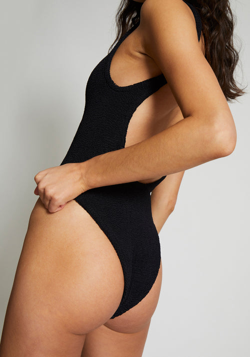 Square Neck Swim Black