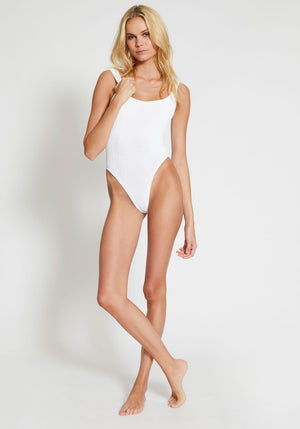 Square Neck Swim White