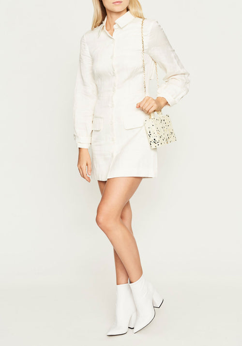 Inez Button Down Mini Dress