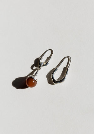 Lulu Earrings Carnelian Silver