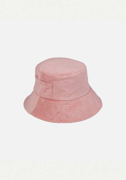 Wave Bucket Hat Pink Terry
