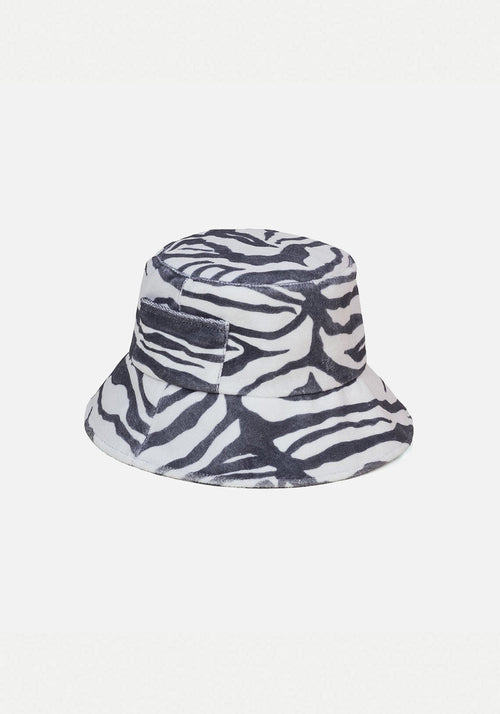 Wave Bucket Hat Zebra