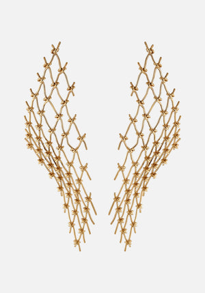 Large Net Earrings Vermeil