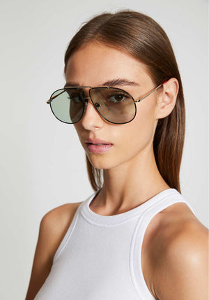 Le Pear Sunglasses Gold/Black