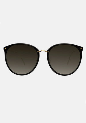 Linda Farrow Kings C1 Oversized Sunglasses Black