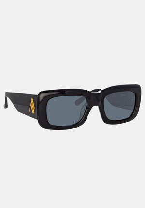 The Attico Marfa Rectangular Sunglasses Black