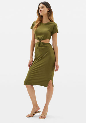 Rowan Dress Army Slub