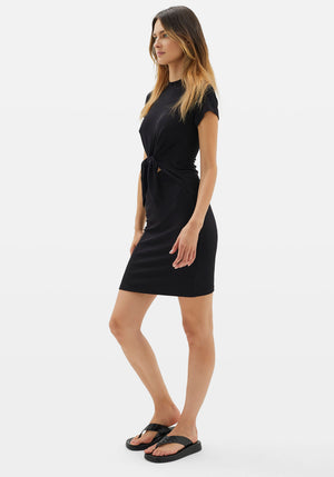 Stevie Rib Dress Black