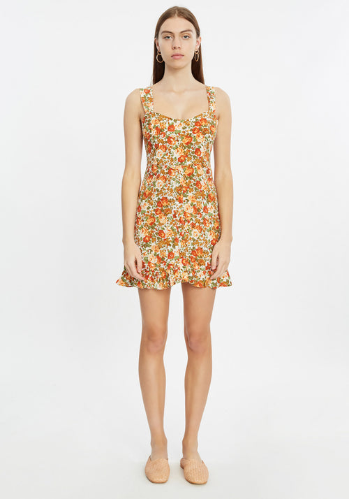 LOU LOU MINI DRESS LE ROSE FLORAL