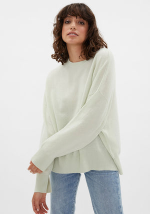 Anaa Cashmere Sweater Light Green
