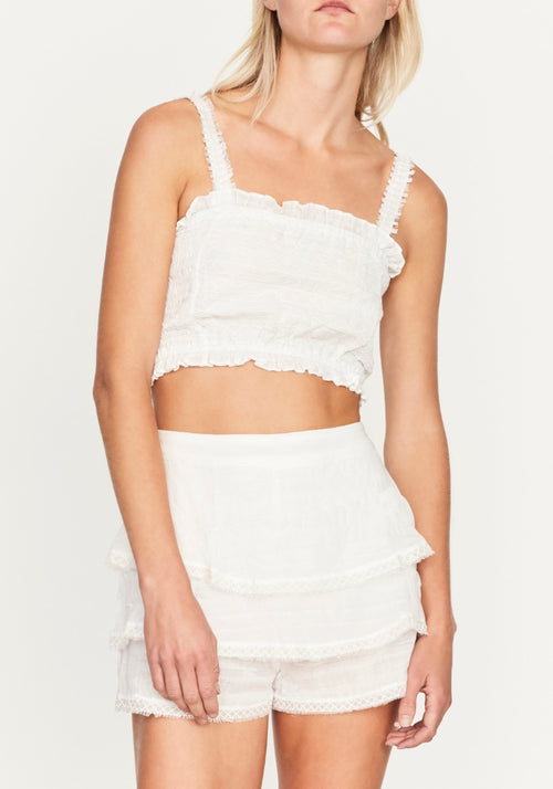 Lucille Embroided Crop Top