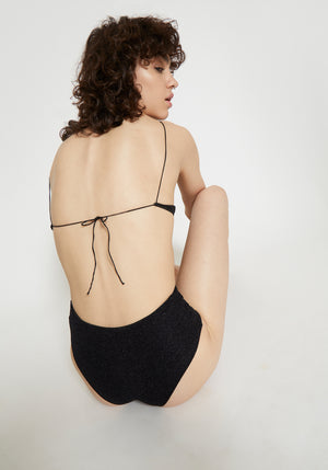Lumière High Waisted Bikini Black Lurex