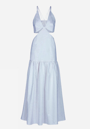 Emory Cut Out Cotton Dress Baby Blue