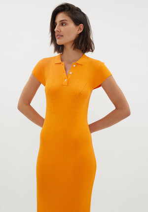 MVP Knit Polo Dress Tangerine