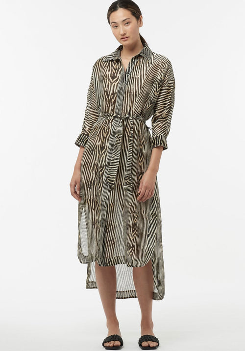Inside Eden Shirt Dress Woodgrain