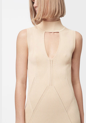 State Of Play Knit Mini Dress Almond