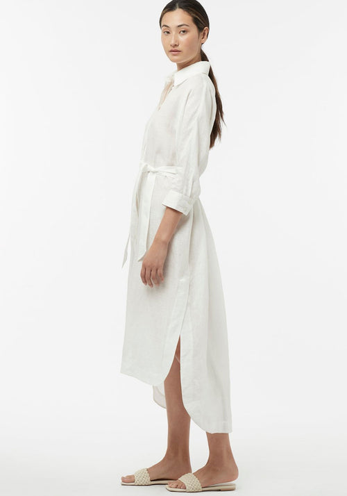 Sweet Tuscany Shirt Dress White