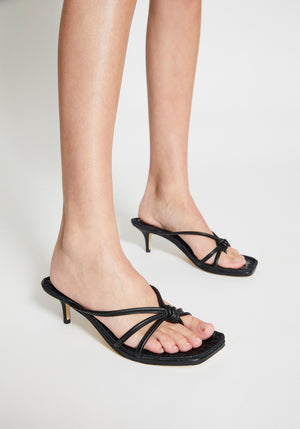 Azeline Kitten Heel Black
