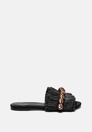 Annika Slide Black/Gold