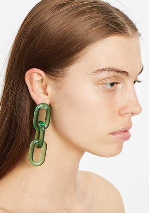 Marcia Earrings Green