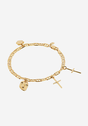 Friend Charm Bracelet Small Gold