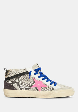 Mid Star Sneaker Snake Fuxia Star